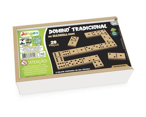 Domino Tradicional Em Madeira 745 Junges