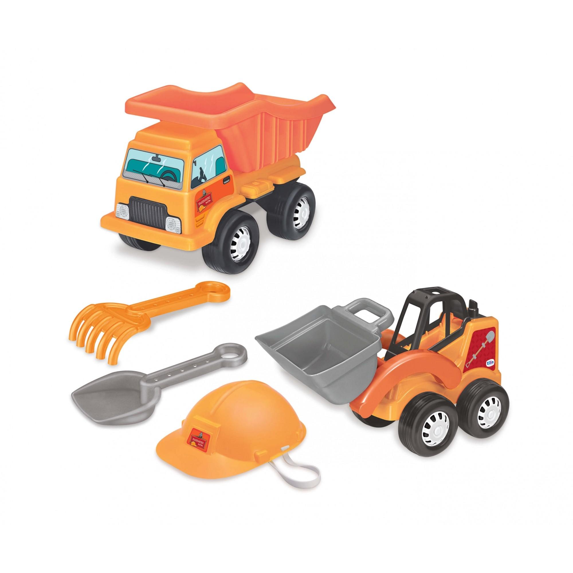 Engenheiro Mirim Com Caminhão E Acessórios Tilin
