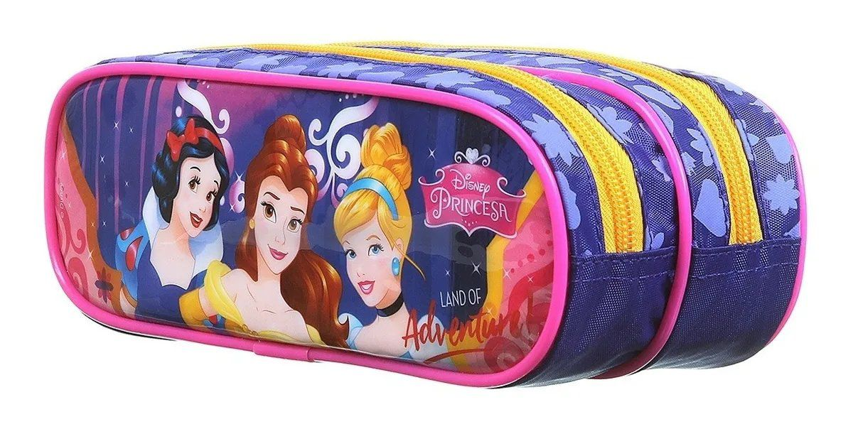 Estojo Soft 2 Divisorias Princesas Disney 37488 Dermiwil