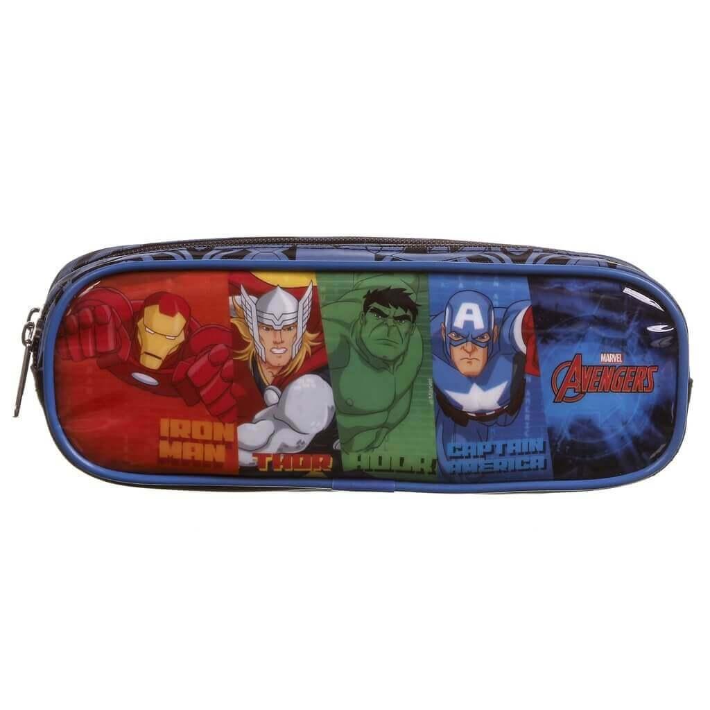Estojo Soft Com 2 Divisorias Avengers 11584 Dmw