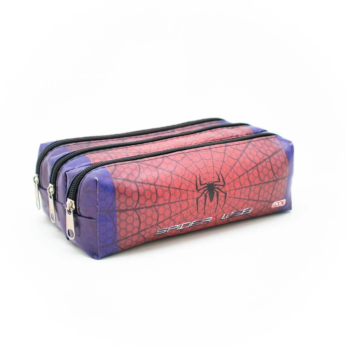 Estojo Triplo Spider Web Look