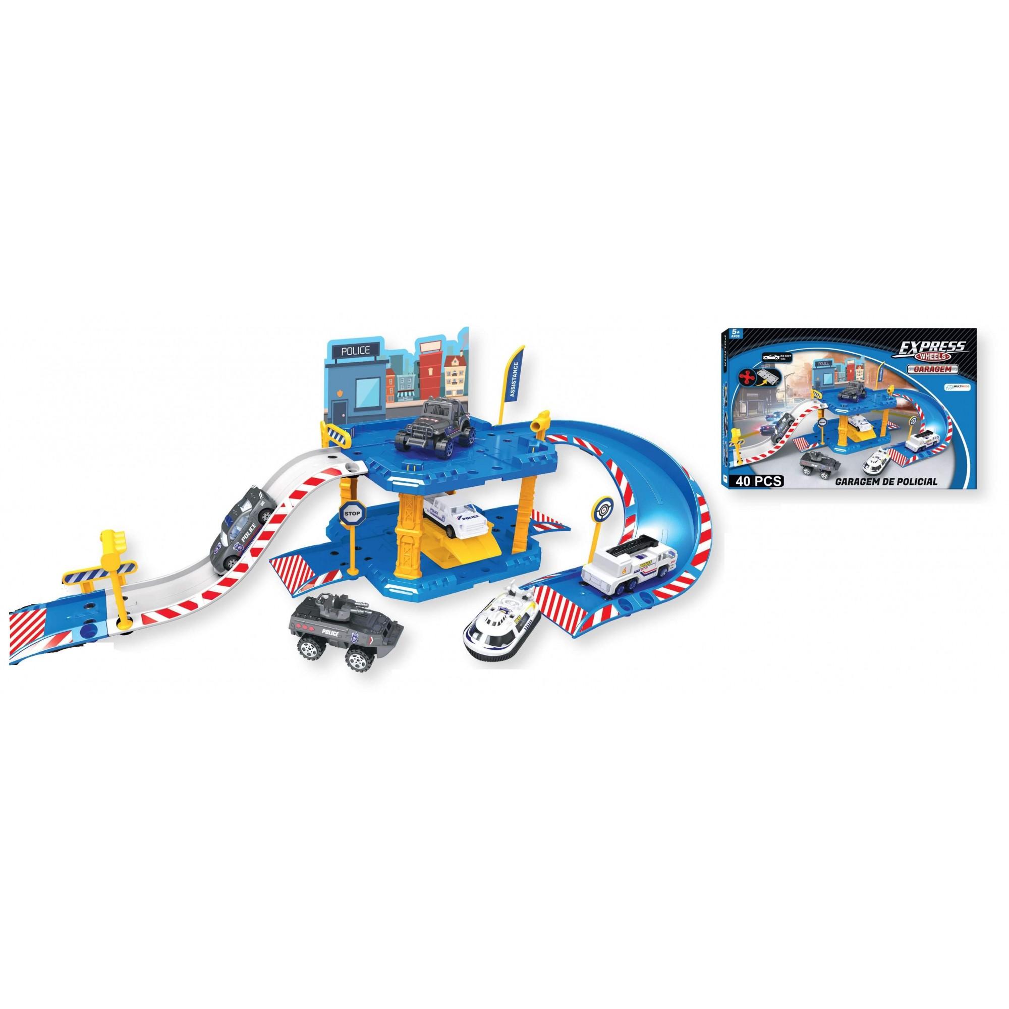 Express Wheels Garagem De Policial 40 Peças BR1237 Multilaser
