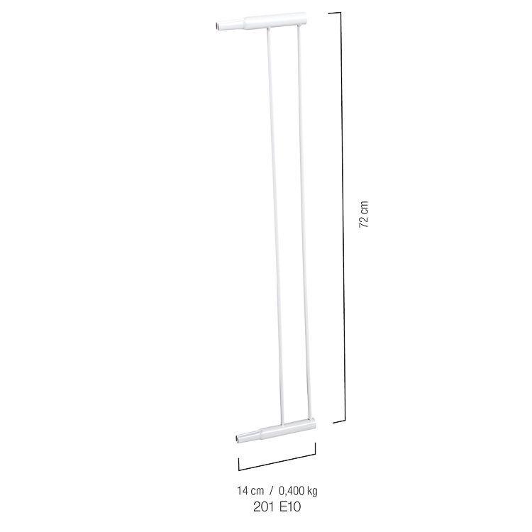 Extensor Para Grade De Porta 10 Cm  Modelo 201 E10 Kiddo
