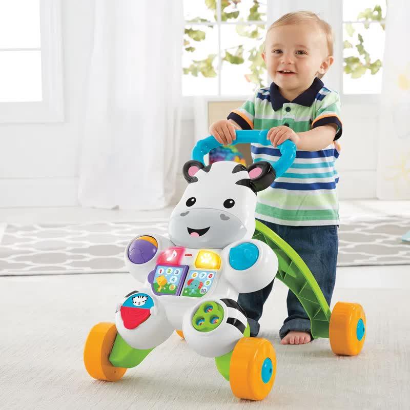 Fisher Price Apoiador Musical Com Atividades Zebra DLH48 Mattel