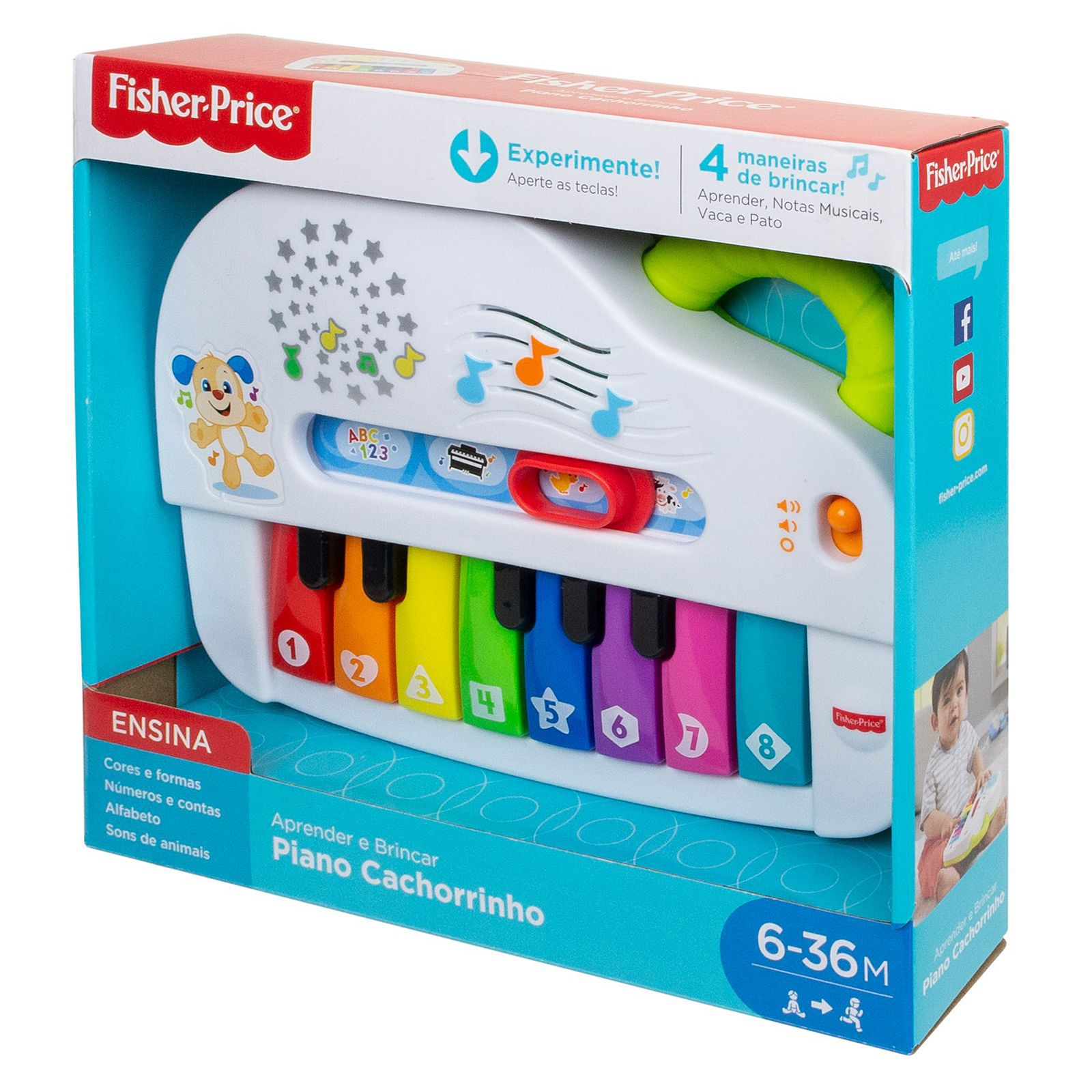 Fisher Price Piano Cachorrinho Gfx34 Mattel