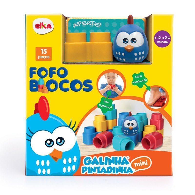 Fofo Blocos 15 Peças Galinha Pintadinha Mini 1047 Elka