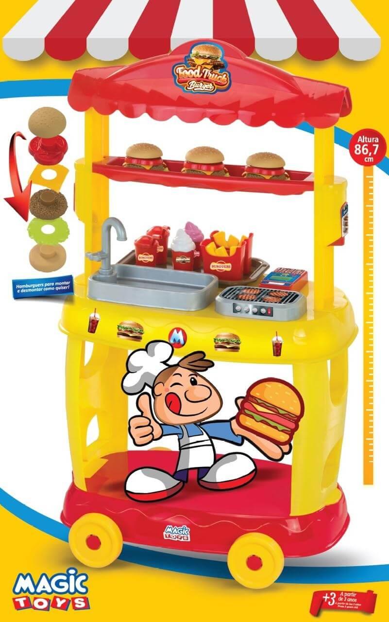 Food Truck Burguer Amarelo 8080 Magic Toys