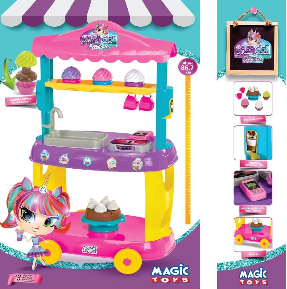 Food Truck Doces Roxo 8084 Magic Toys