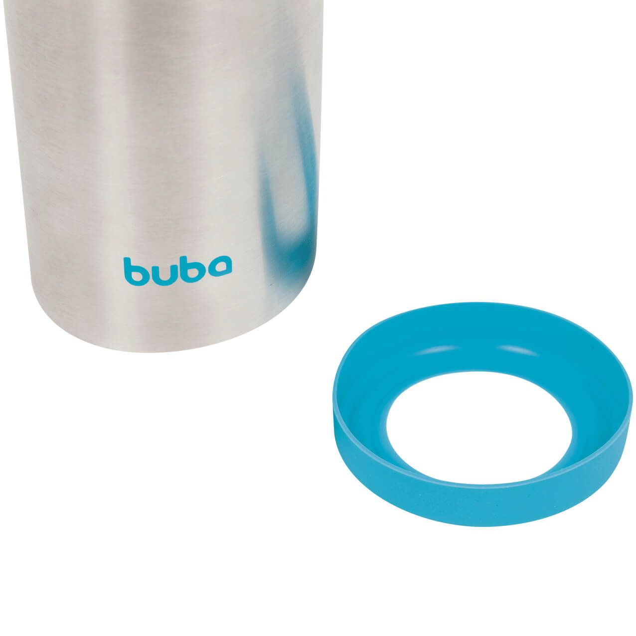 Garrafa Térmica Com Parede Dupla 420 Ml Azul 11385 Buba