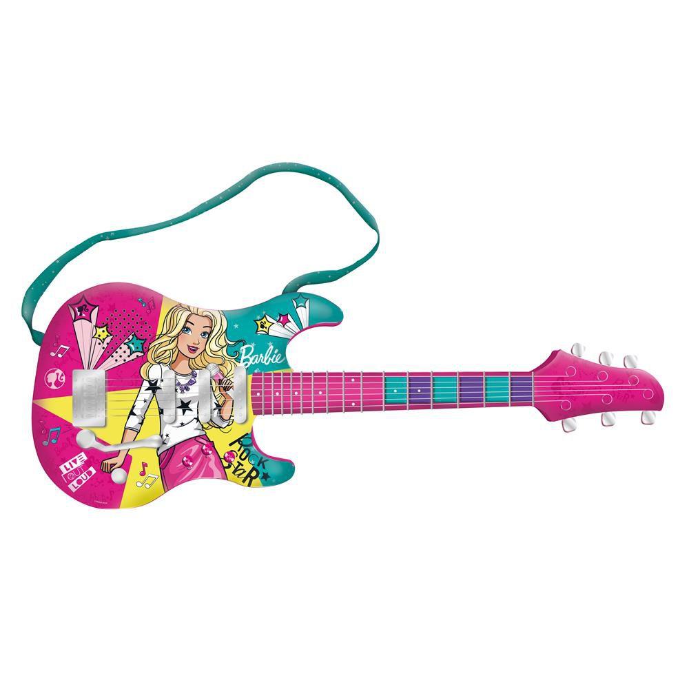 Guitarra Fabulosa Barbie Com Função Mp3 Player F00045 Fun