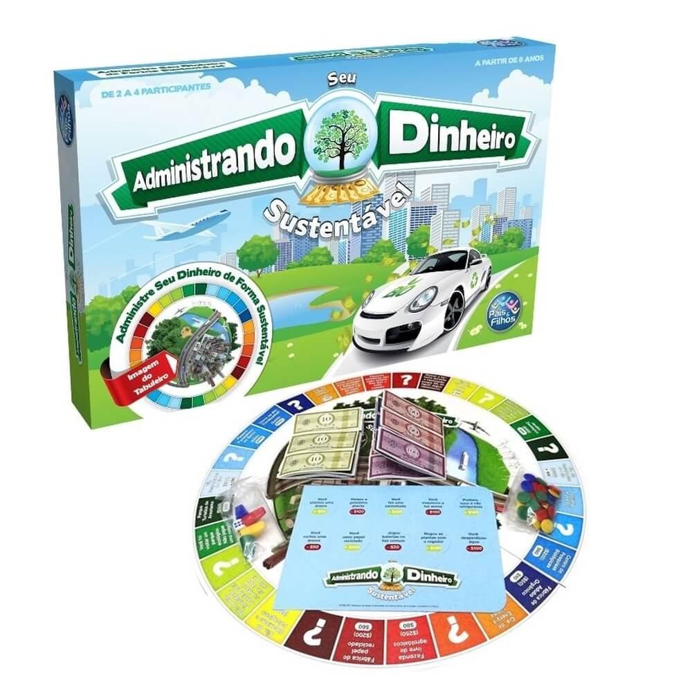 Jogo Administrando Seu Dinheiro Sustentável Pais E Filhos