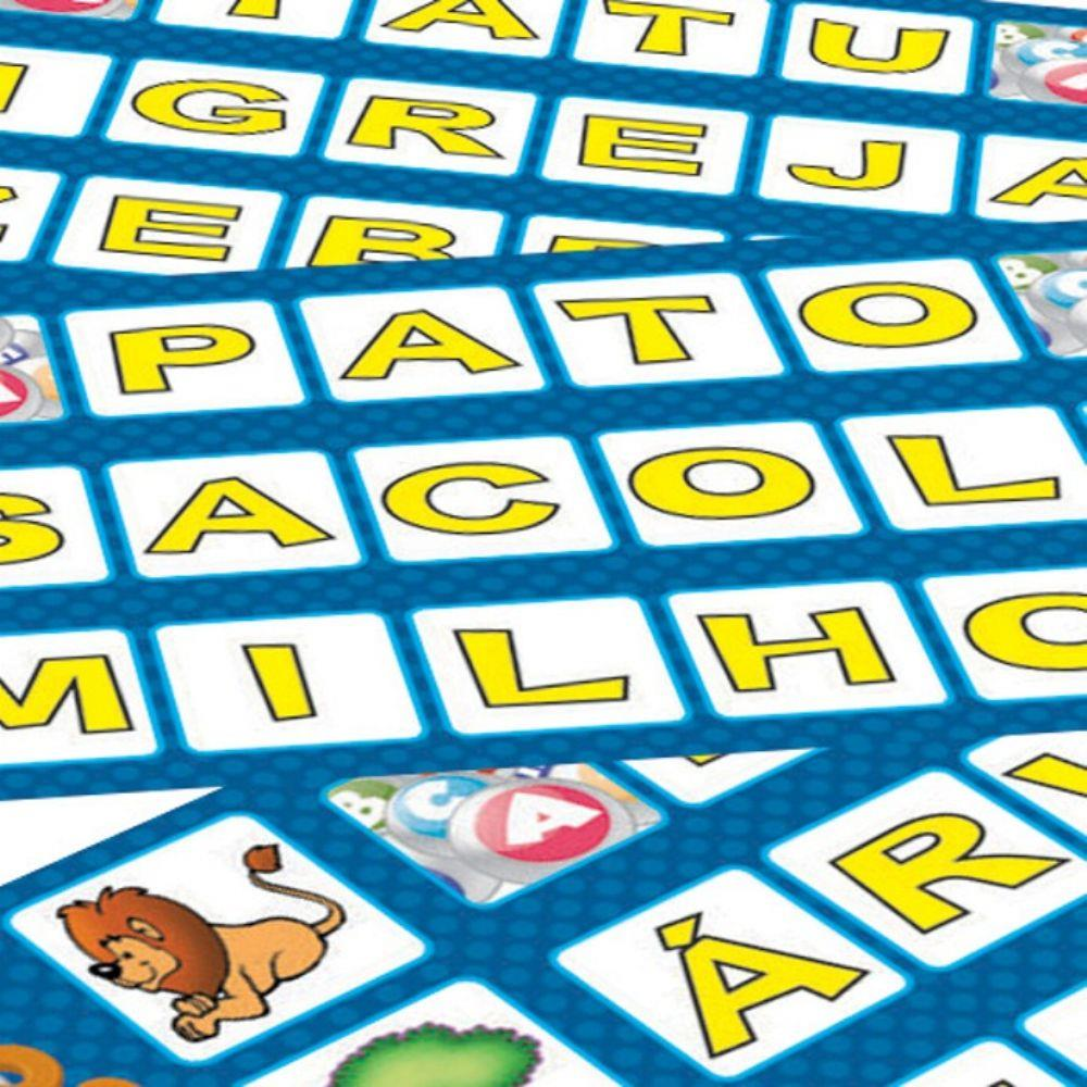 Jogo Alfabingo Bingo De Letras E Figuras Algazarra