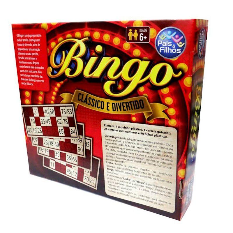 Jogo Bingo Pais E Filhos 1154