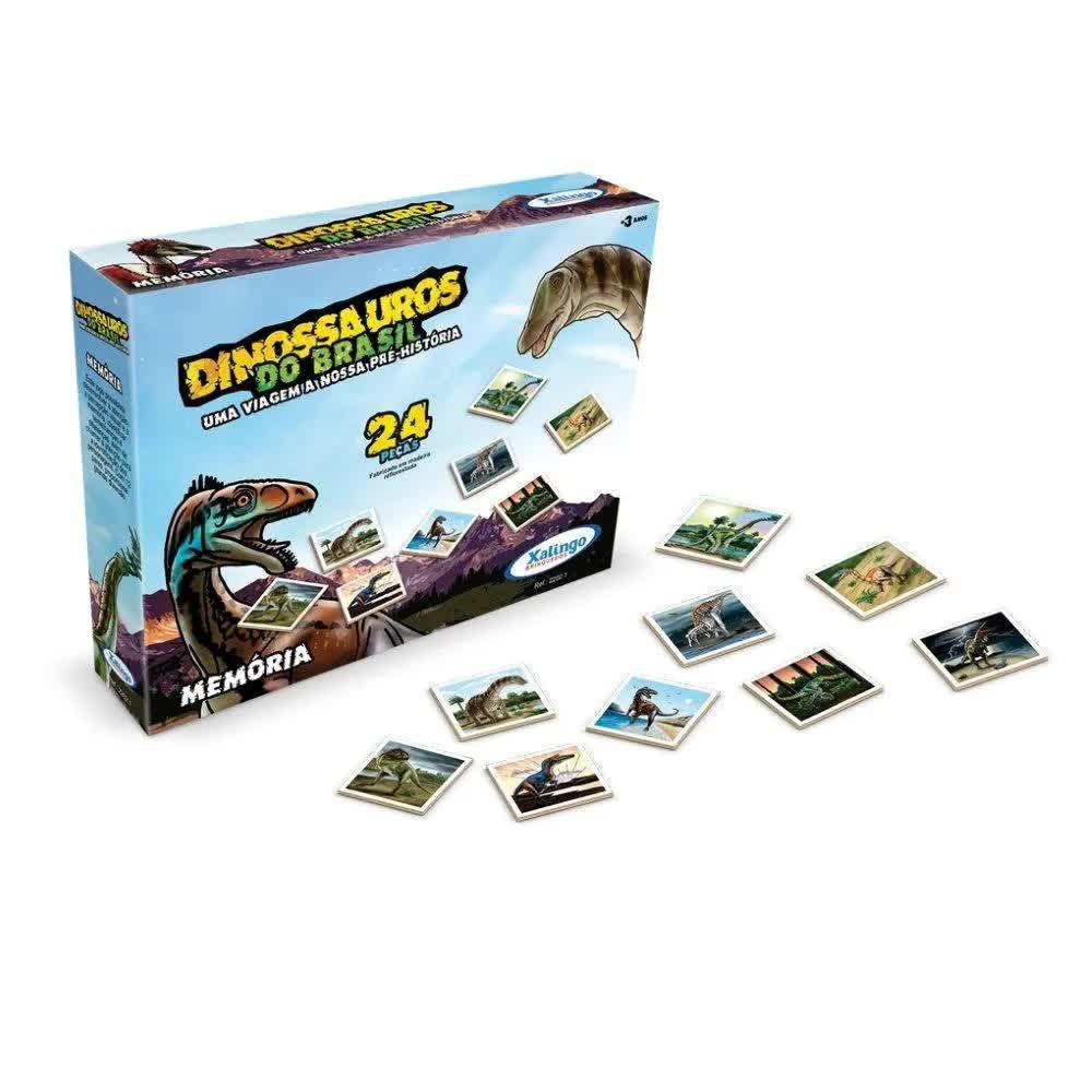 Jogo Da Memoria Dinossauros Do Brasil Xalingo