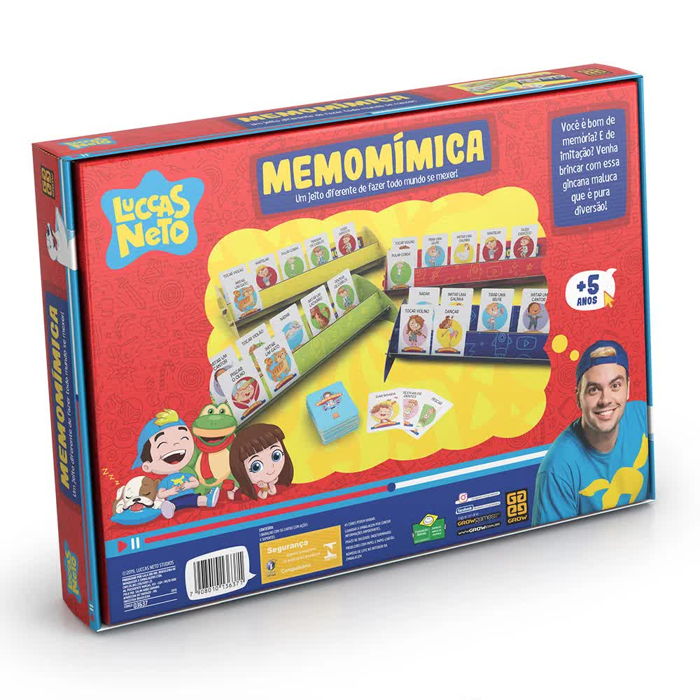 Jogo Memomímica Luccas Neto 03637 Grow