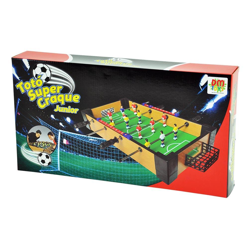 Jogo Pebolim Totó Super Craque Junior Dmt5751 Dm Toys