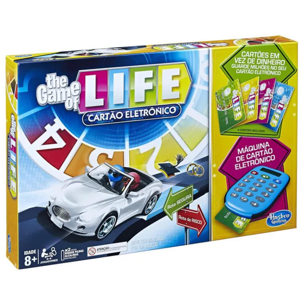 Jogo The Game Of Life Com Cartão Eletrônico A6769 Hasbro