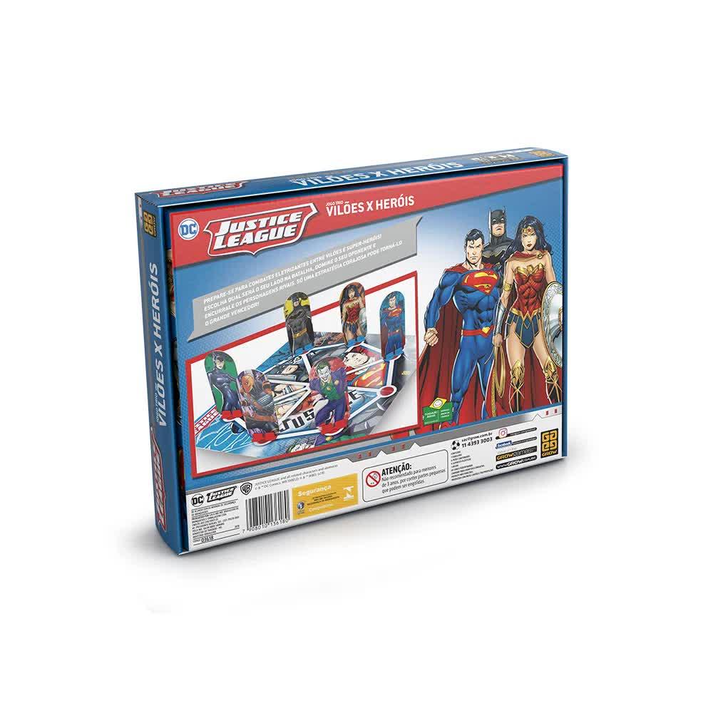 Jogo Trio Vilões X Heróis DC Comic 03618 Grow