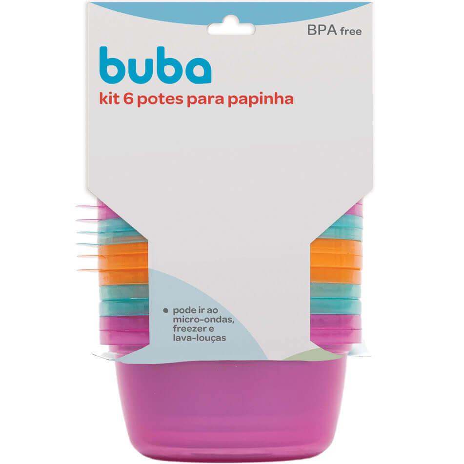 Kit 6 Potes Para Papinha 6758 Buba