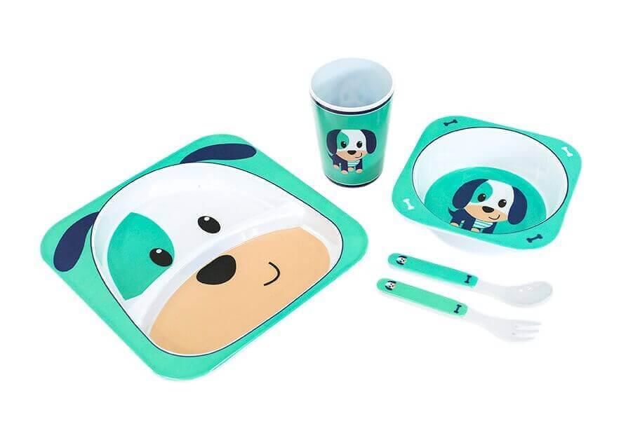 Kit Alimentação Para Bebê 5 Peças Turminha Animal Unik