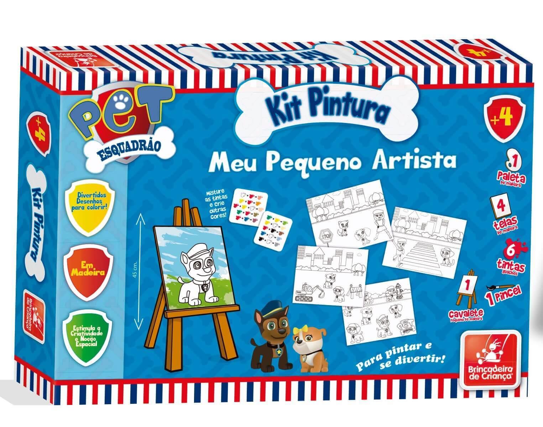 Kit Pintura Esquadrão Pet Em Madeira 0572 Brincadeira De Criança