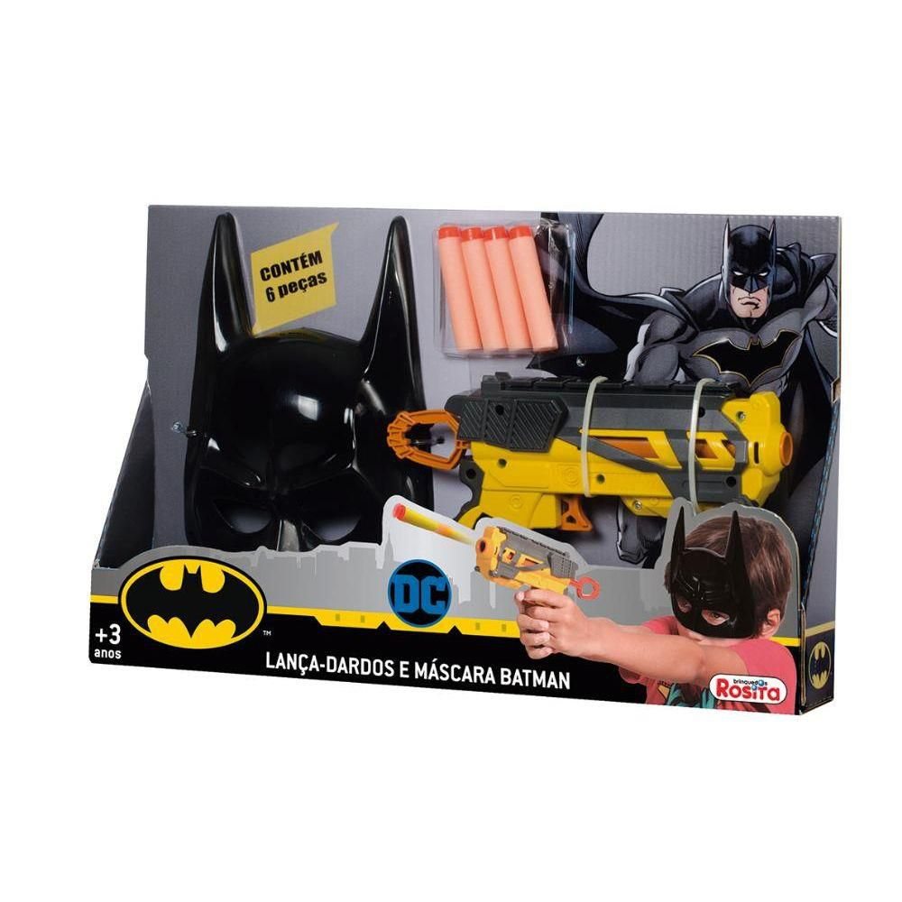 Lançador Lança Dardos E Máscara Batman 9515 Baby Brink