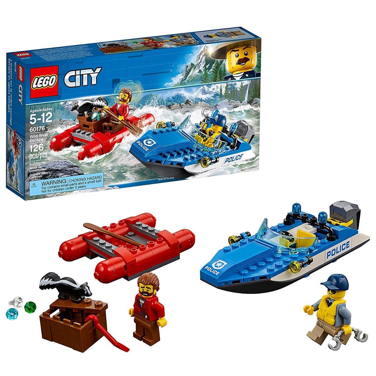 Lego City Fuga No Rio Furioso 126 Peças 60176