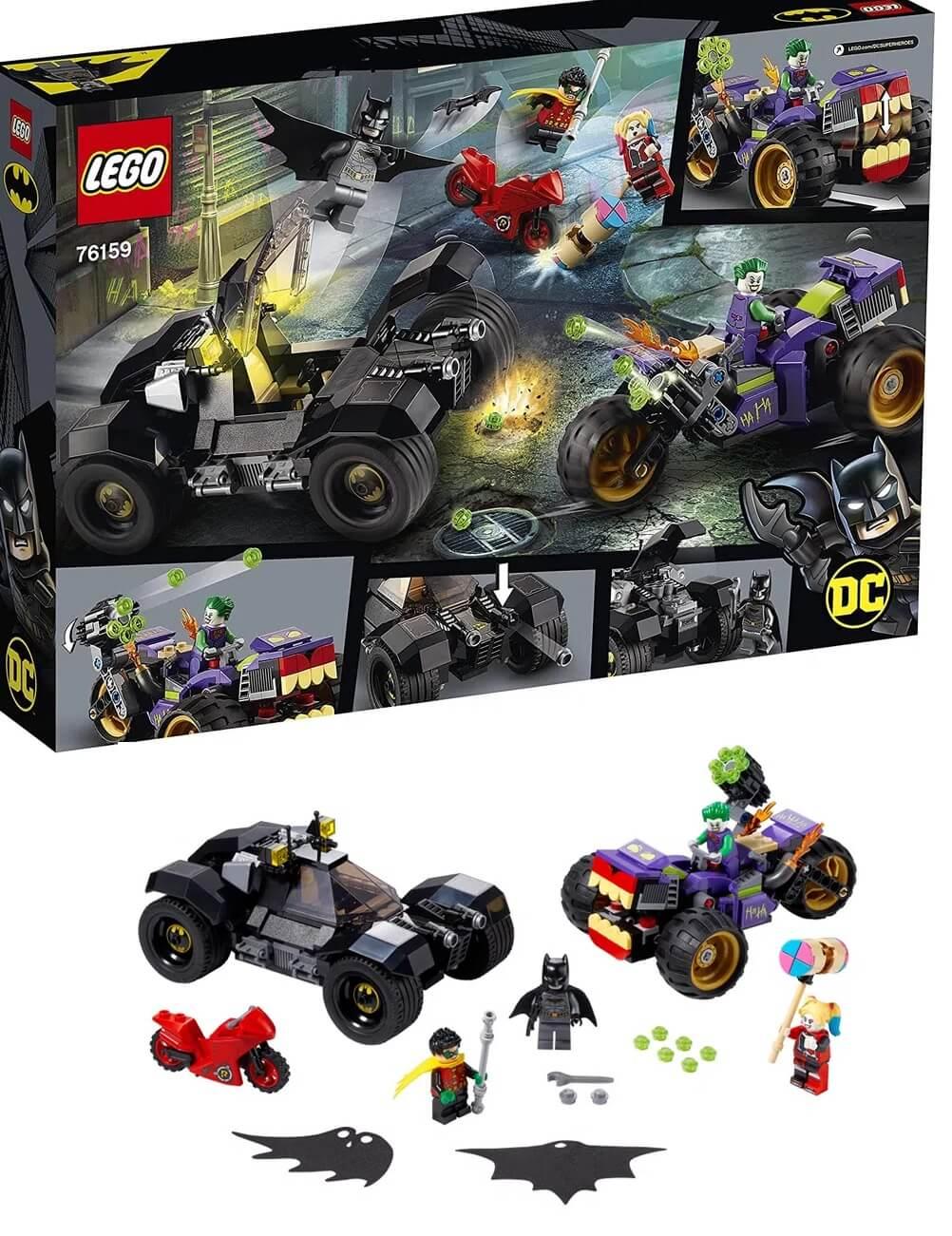 Lego DC Perseguição De Triciclo Do Coringa 440 Peças 76159