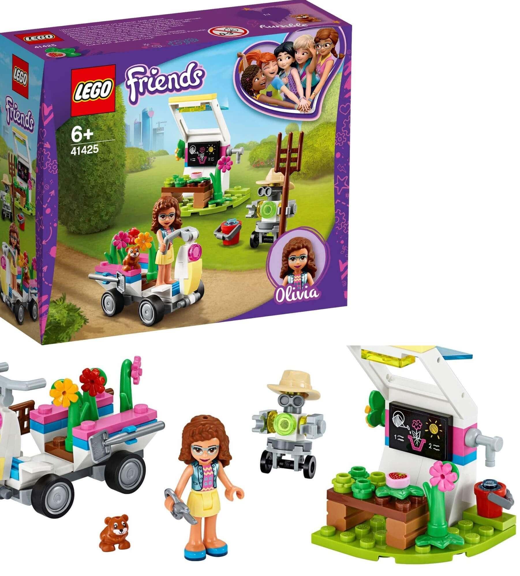 Lego Friends O jardim De Flores Da Olivia 92 peças 41426