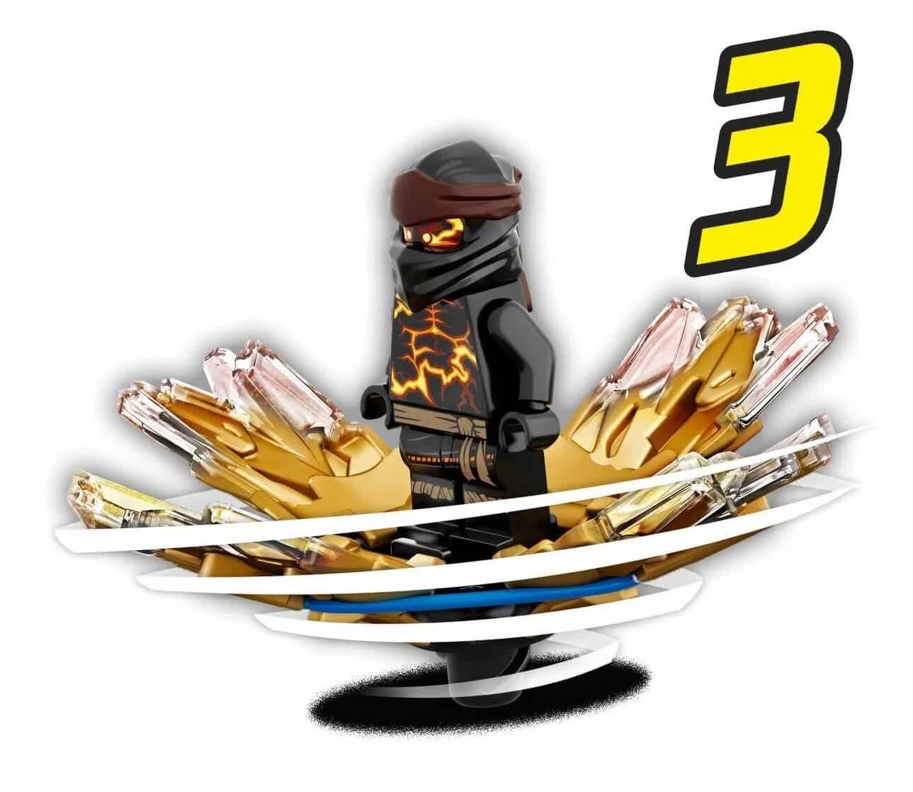 Lego Ninjago Rajada De Spinjitzu Cole 48 Peças 70685