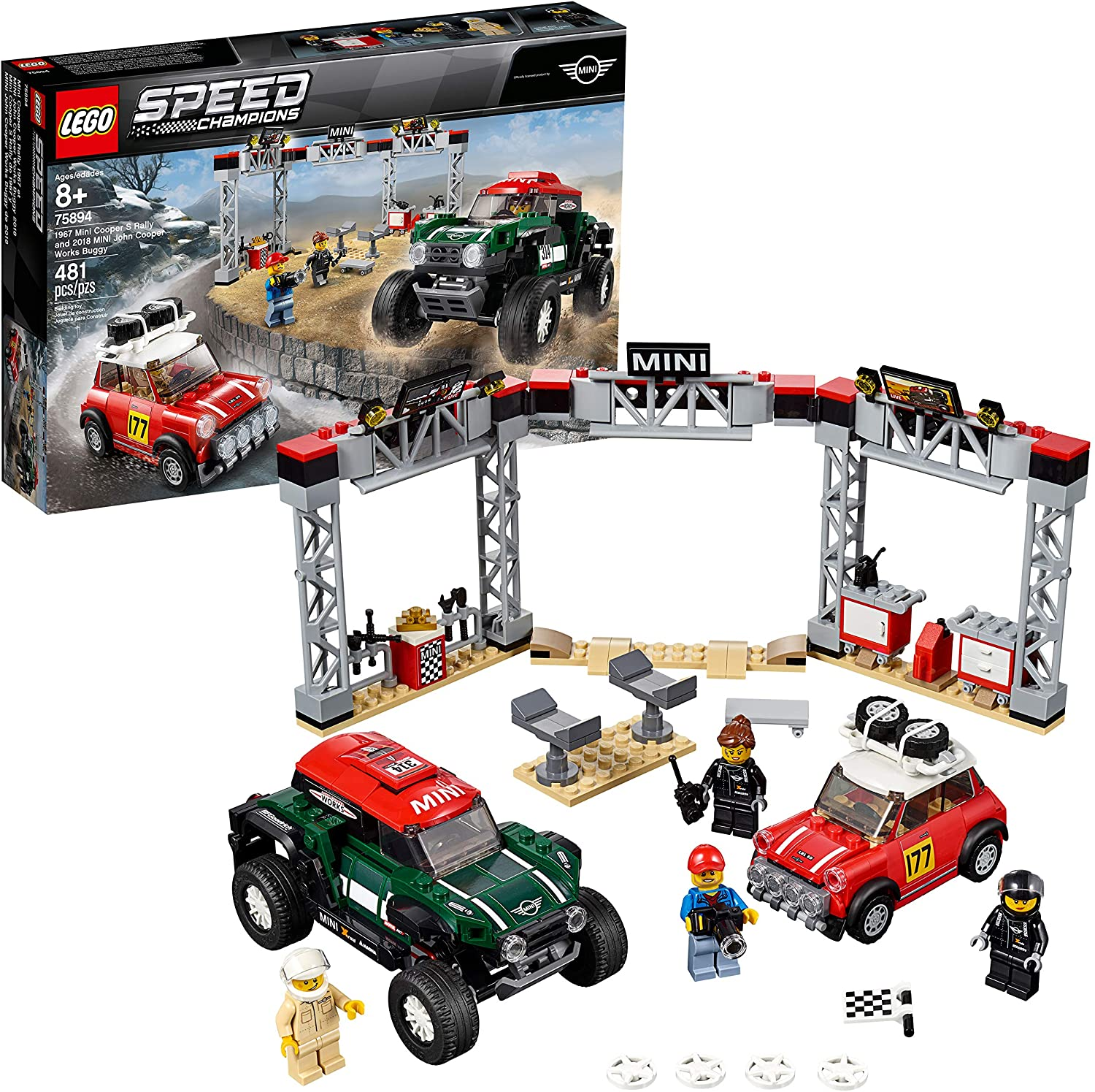 Lego Speed Champions 1967 Cooper Rally E 2018 John Cooper Works Buggy 75894