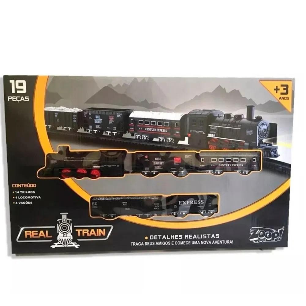 Locomotiva Real Train 19 Peças  ZP00170 Zoop Toys