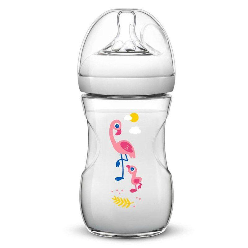 Mamadeira Pétala Decorada Flamingo 260 Ml Avent