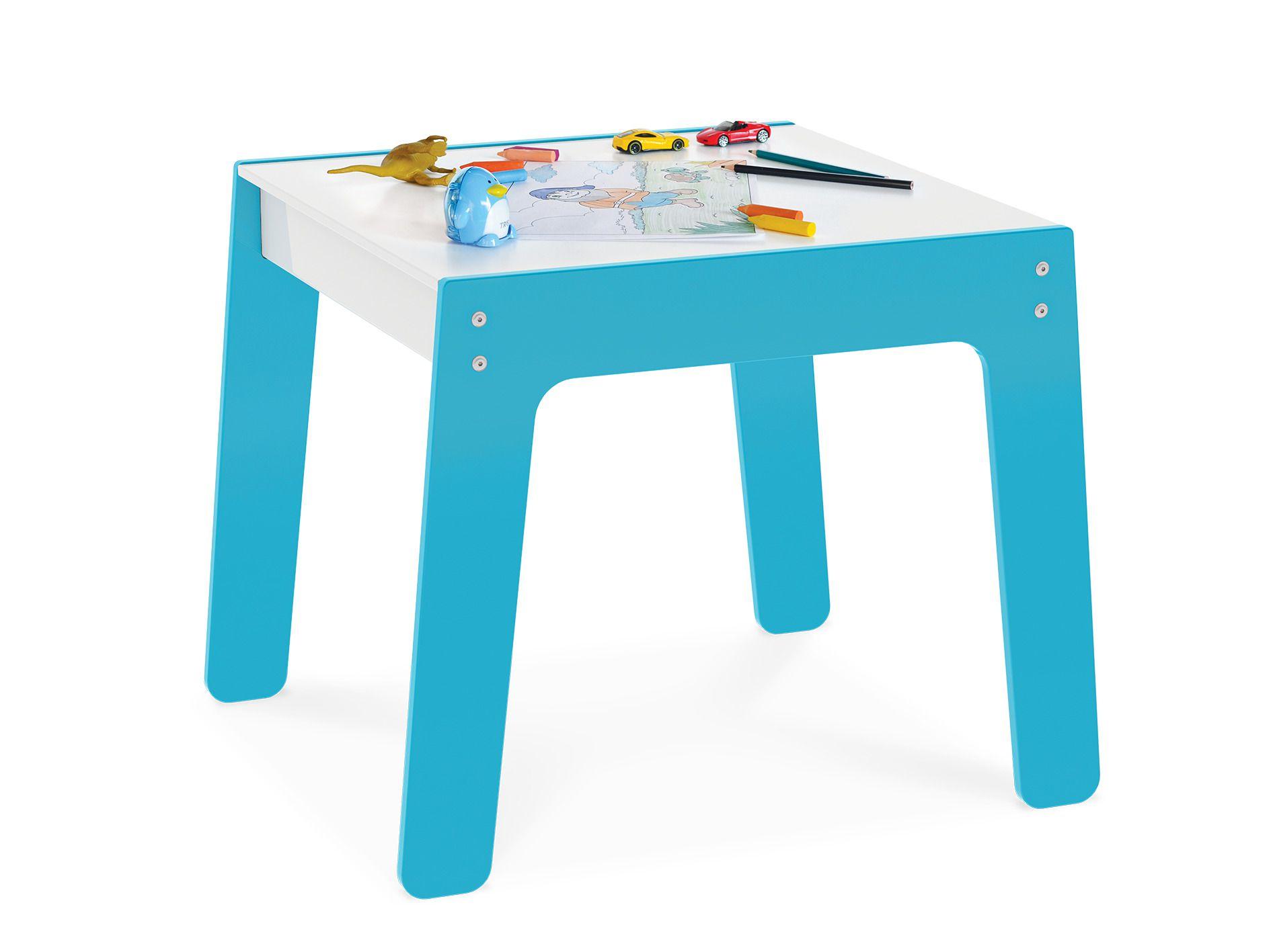 Mesa Infantil Em Madeira Azul 986 Junges