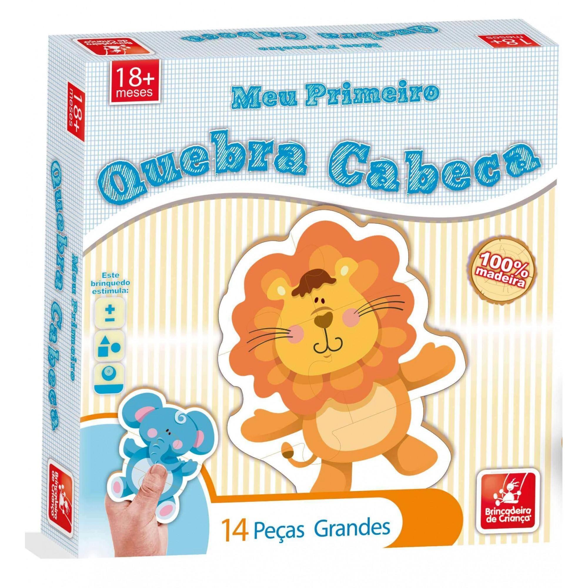 Meu Primeiro Quebra-Cabeça 14 Peças Em Madeira Brincadeira De Criança