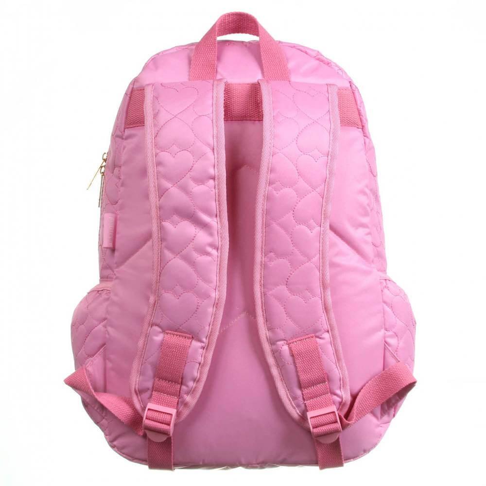 Mochila De Costas Capricho Love Pink Rosa G Dmw