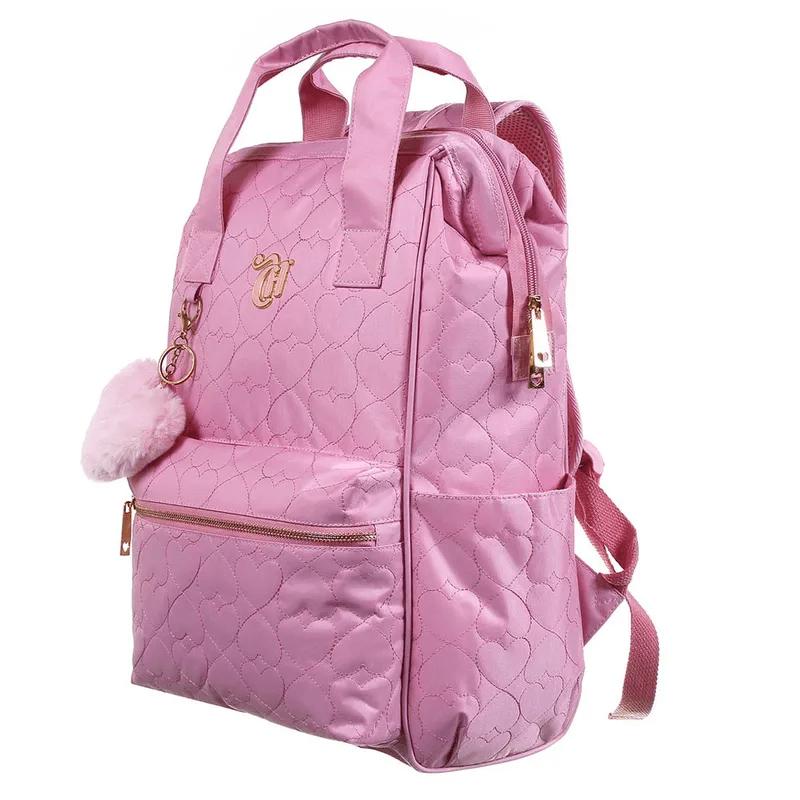 Mochila De Costas Capricho Rosa Com Alça De Mão G 11890 Dmw