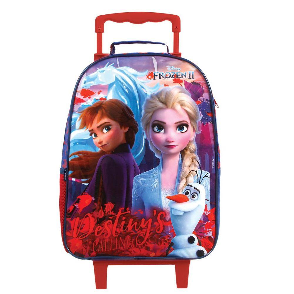 Mochila Escolar Com Rodinhas Frozen G 37383 Dermiwil