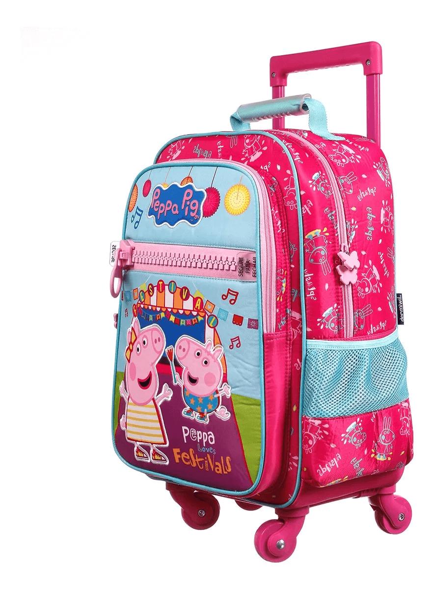 Mochila Escolar Com Rodinhas Peppa Pig G 37474 Dermiwil