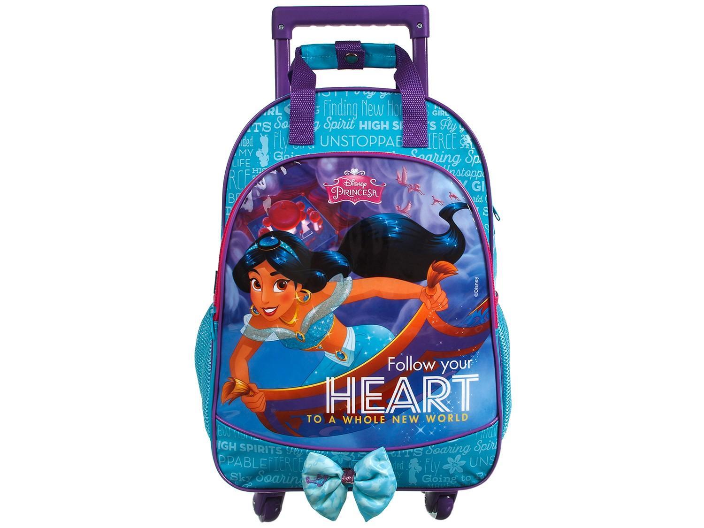 Mochila Escolar Com Rodinhas Princesas Disney 37405 Dermiwil