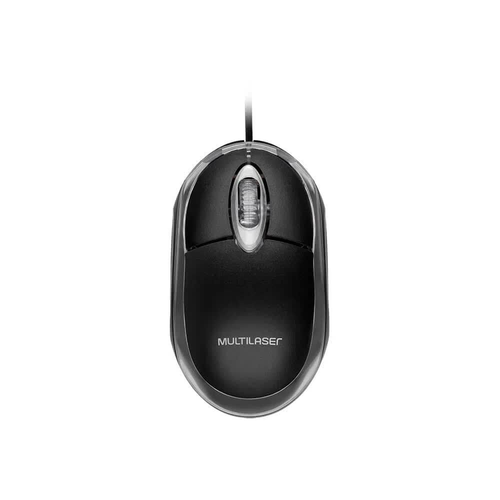 Mouse Óptico Classic 1200 DPI USB Preto MO179  Multilaser