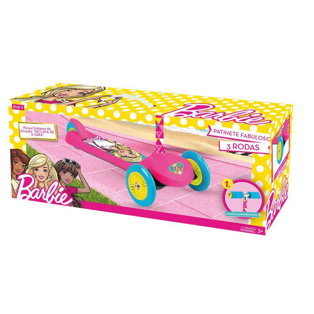 Patinete Fabuloso Barbie Com 3 Rodas 81455 Fun