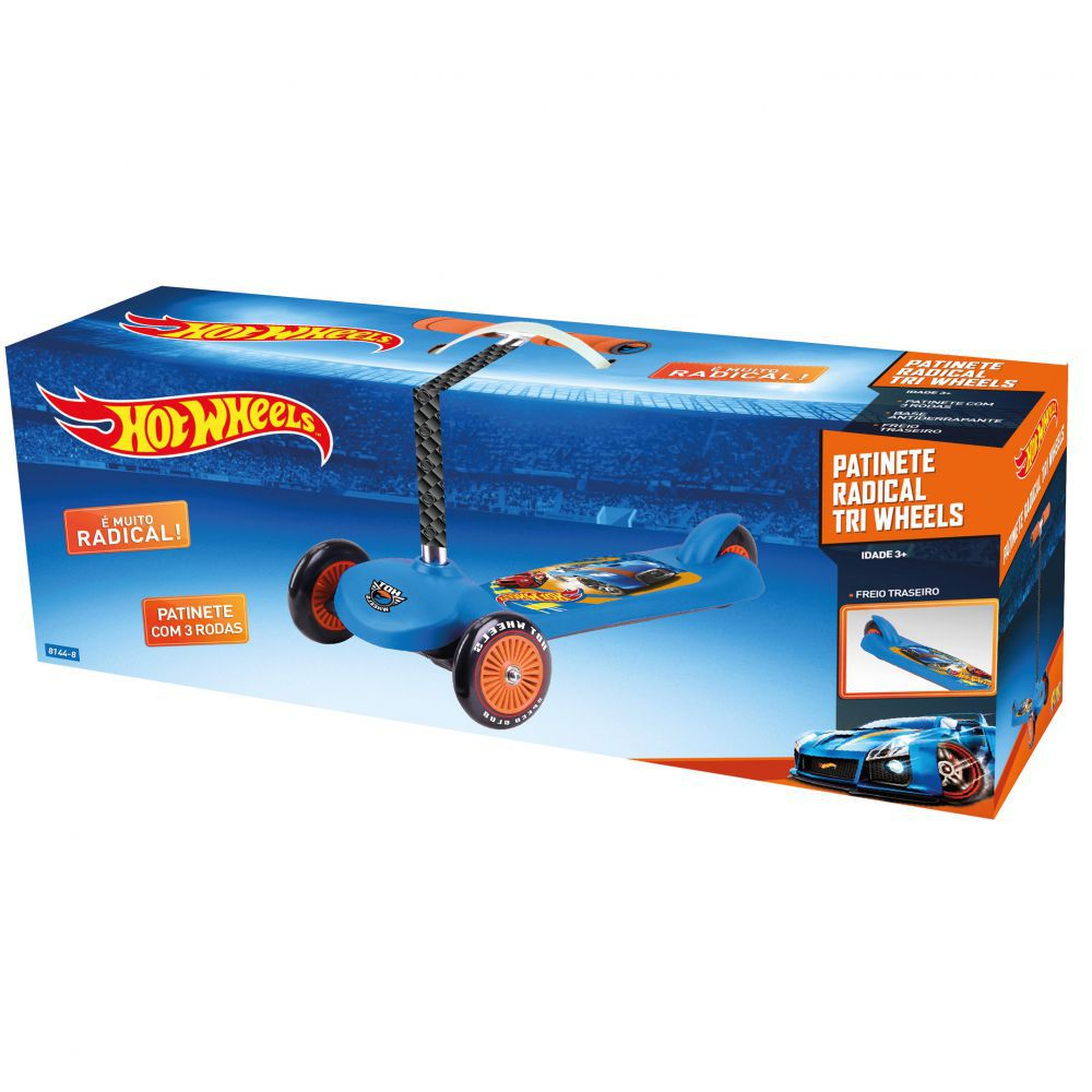 Patinete Radical 3 Rodas Hot Wheels 81448 Fun