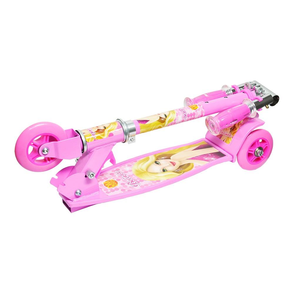 Patinete Radical Top 3 Rodas Rosa Dmr4879 Dm Toys