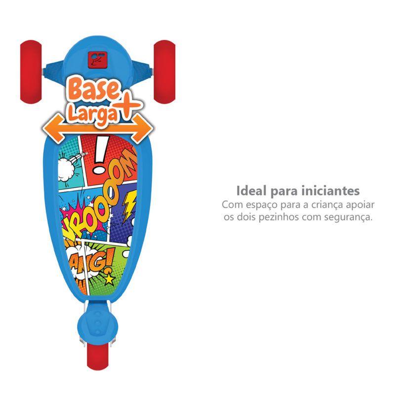 Patinete Skatenet Kid Com 3 Rodas Azul 1500 Bandeirantes