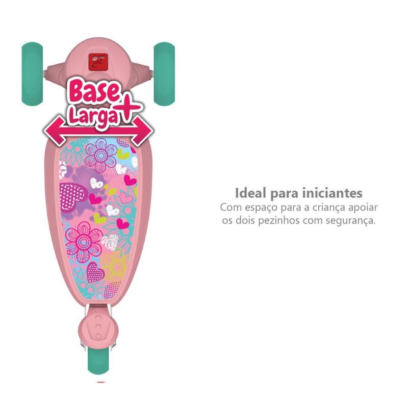 Patinete Skatenet Kid Flower Rosa 1501 Bandeirante