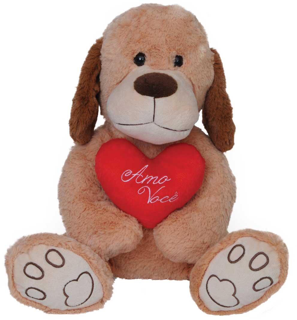 Pelúcia Cachorro Amado Com Coração 52 Cm Lovely Toys