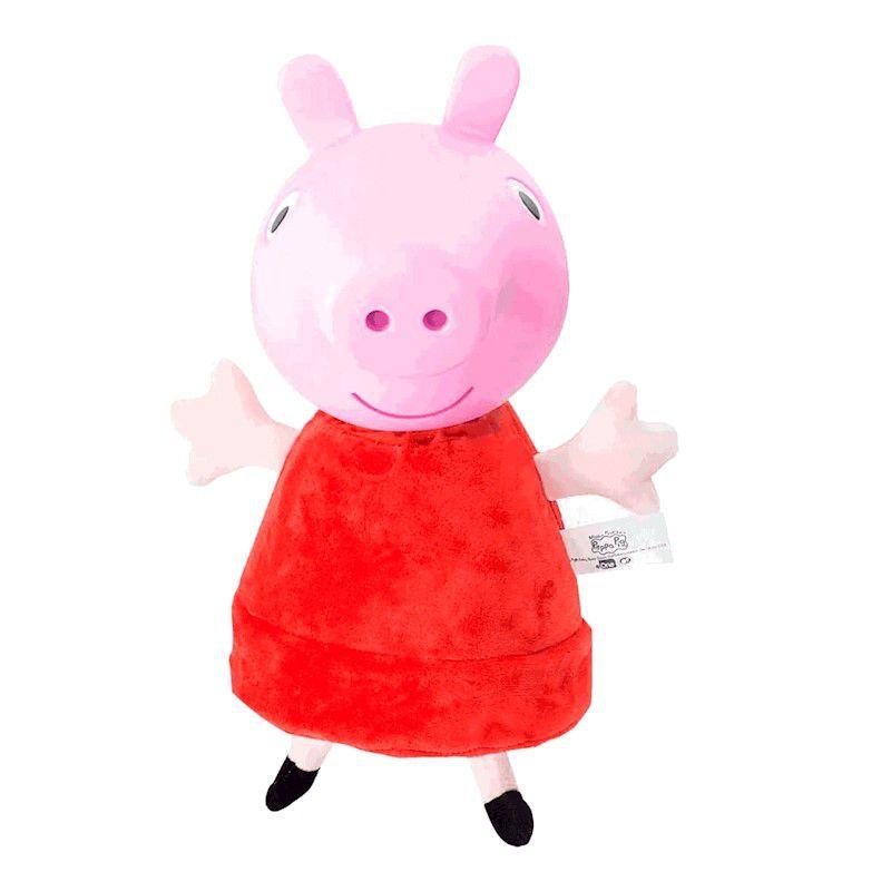 Pelúcia Peppa Pig Cabeça De Vinil Com Som 34 Cm Estrela