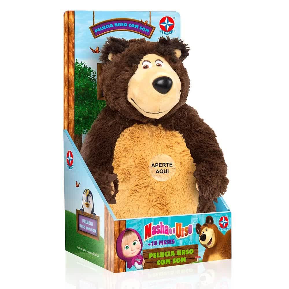 Pelúcia Urso Com Som 40 Centímetros Estrela