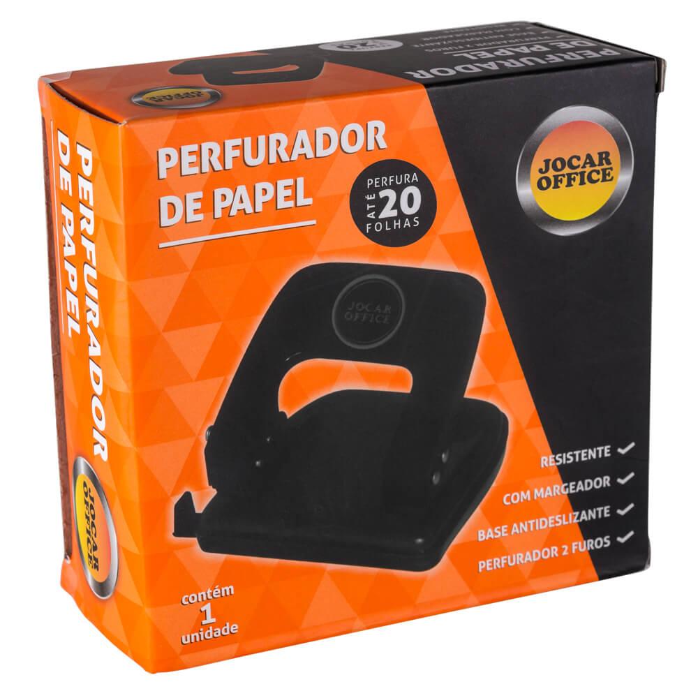 Perfurador De Papel 20 Folhas Com 2 Furos 93020 Leonora